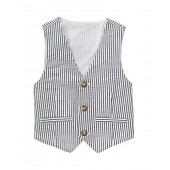 Gymboree Big Boys' BlueStripe Seersucker Vest