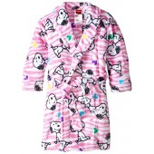 Peanuts Little Girls Velvet Fleece Robe