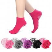 Snow Fox Sports SFS Non Slip Skid Yoga Pilates Socks with Grips Cotton for Men Women