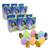 Easter Eggs - Super Sized Grow Eggs (Single Unit) - Watch Them Hatch Like Magic One of Six Different Pets!