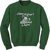FerociTees Belsnickel Cheer Fear Crewneck Sweatshirt