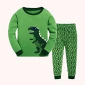 Tkala Boys Pajamas Children Clothes Set Dinosaur 100% Cotton Little Kids Pjs Sleepwear