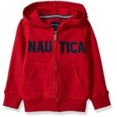 Nautica Boys' Full Zip Classic Logo Fleece Hoodie