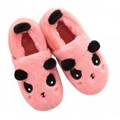 MiYang Winter Women Family Cute Panda Warm House Indoor Slippers Booties