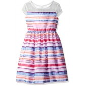Gymboree Big Girls' Multi Organza Stripe Dress