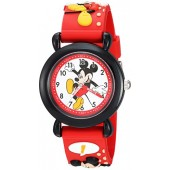 Disney Boy's 'Mickey Mouse' Quartz Plastic Casual Watch, Color:Red (Model: WDS000393)