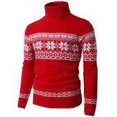 H2H Mens Casual Long Sleeve Twisted Knitted Turtleneck Pullover Sweaters