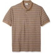 Lacoste Men's Short Sleeve Stripe Pique Regular Fit Polo, PH3154