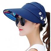 Sun Hats for Women Wide Brim Sun Hat UV Protection Caps Floppy Beach Packable Visor