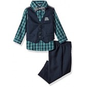Nautica Baby Boys' Set With Vest, Shirt, Pant, and Bow Tie