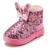 LUUB New Design Bunny Ears Kid Boots Warm For children Girls Winter Snow Shoes Fashion (Toddler/Little Kids)