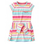 Gymboree Big Girls' Multi Stripe Tie Waist Dress