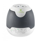 myBaby SoundSpa Lullaby Sounds & Projection, Plays 6 Sounds and Lullabies, Image Projector, Auto-Off Timer Perfect for Naptime, Adapter Operated, MYB-S305