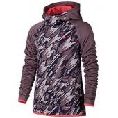 Nike Girls Camo Dri-Fit Therma Pullover Hoodie