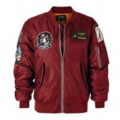 AVIDACE Classic Bomber Jacket Women Nylon Quilted with Patches