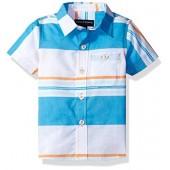 French Toast Baby Boys' Short Sleeve Woven Poplin Shirt