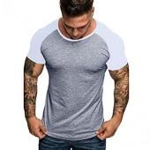 NREALY Men's Casual Camouflage Cotton O-Neck Raglan Short Sleeve T-Shirt Top Blouse Tee