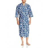 Majestic International Men's Screen Play Print Kimono Robe,