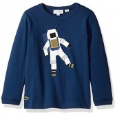 Lacoste Boys' Long Sleeve Space Man Graphic T-Shirt
