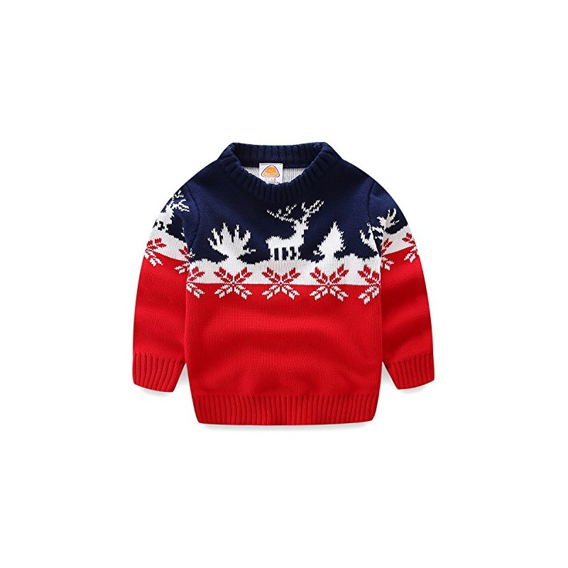 Mud Kingdom Boys Christmas Sweaters Xmas Deer Clothes