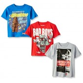Star Wars Lego Big and Little Boys' 3 Pack Graphic T-Shirts