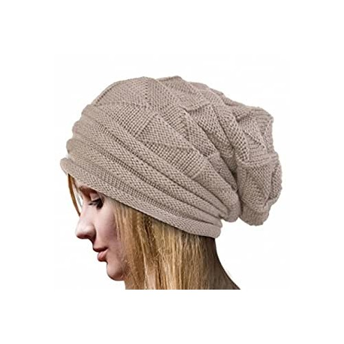 OMMR-Clearance Mens Women Autumn Winter Warm Knit Hats Wool Baggy Slouchy Beanie Hat Skull Cap
