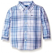 Tommy Hilfiger Baby Boys' Long Sleeve Plaid Shirt