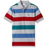Lacoste Boys' Short Sleeve Small Multi Stripe, Pj8911