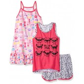 Komar Kids Big Girls' 3pc Sleepwear Set