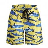 ORANSSI Big Boys Kids Shark Printed Boardshorts With Pockets