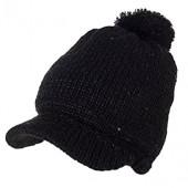 2430ff35158 SIGGI Womens Knit Newsboy Cap Warm Lined Winter Hat 100% Soft Acrylic with  Visor