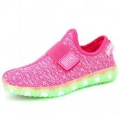 FASHOE Kids Boys Girls Breathable LED Light Up Shoes Flashing Sneakers