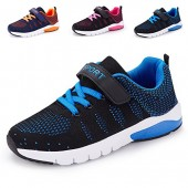MAYZERO Kids Tennis Shoes Casual Walking Shoes Lightweight Breathable Running Shoes Velcro Fashion Sneakers For Boys and Girls