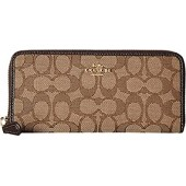 COACH Womens Boxed Slim Accordion Zip Wallet In Signature Jacquard