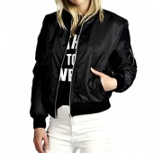 Pop lover Women's Fashion Classic Short Padded Bomber Coat Quilted Jacket