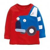SanReach Little Boys Car Printed Embroidery Pullover Cotton Sweatshirt Long Sleeve Pajamas