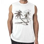 Riokk Az Sleeveless Tank Tops Shirts Fit Men Coconut Tree by The Beach