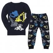 Tkala Boys Pajamas Children Clothes Set 100% Cotton Little Kids PJS Sleepwear