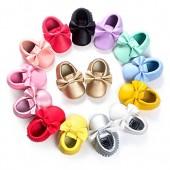 C&H Baby Boys Girls Soft Soled TasselBowknots Crib Infant Toddler Prewalker Moccasins Shoes
