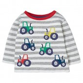 SanReach Little Boys Cotton Knitted Crewneck Sweatshirt Stripes Printed Pullover Pajamas