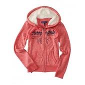 Aeropostale Womens Knit Fleece Fur Hoodie