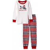 Gymboree Boys' Graphic Top, Striped Bottom Tight-Fit Sleep