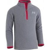 Under Armour Boys' Heathered Logo 1/4 Zip Fleece Sweater