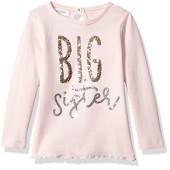 Mud Pie Baby Toddler Girls' Big Sister Long Sleeve Cotton Tunic Top