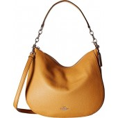 COACH Womens Polished Pebbled Leather Chelsea 32 Hobo