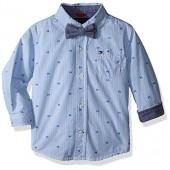 Tommy Hilfiger Baby Boys' Hilfiger Yarn Dyed Stripe Shirt