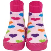 Konfetti Heart n' Sole Slipper Sock Swedish Moccasin