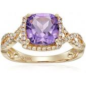 09efad69bf 14k Diamond Cushion Infinity Shank Engagement Ring (1 4cttw