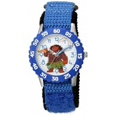 Disney Boy's 'Moana' Quartz Stainless Steel and Nylon Casual Watch, Color:Blue (Model: WDS000033)