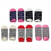 Women's Cotton Funny No Show Socks Novelty Cute Wine Party Hosiery Gift